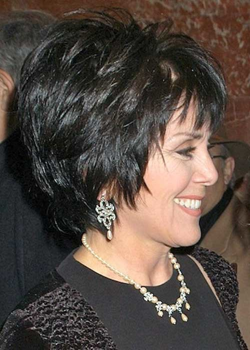 Thick-Hairstyle-for-Short-Dark-Hair-Over-50 Short Hair Styles for Over 50