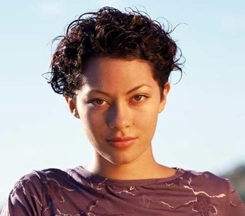 Very-Short-Easy-Curly-Dark-Hair Easy Hairstyles For Short Curly Hair
