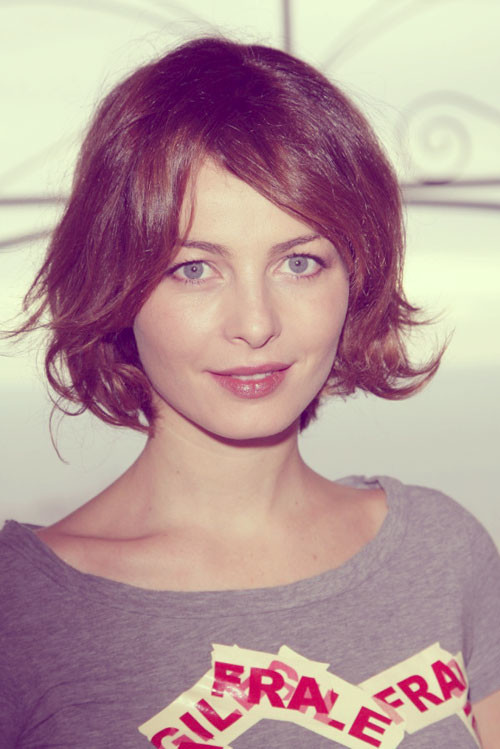 Violante-Placido-hairstyle Short and Cute Hairstyles for Women