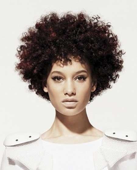 Voluminous-Beautiful-Tight-Curls Black Hair Short Cuts 2019