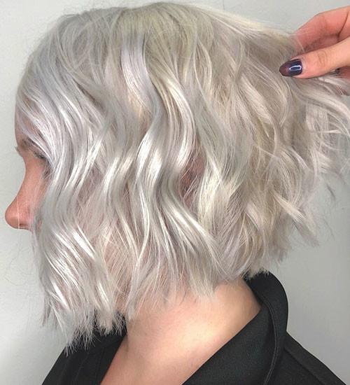 Wavy-Bob-Hair-1 New Short White Hair Ideas 2019