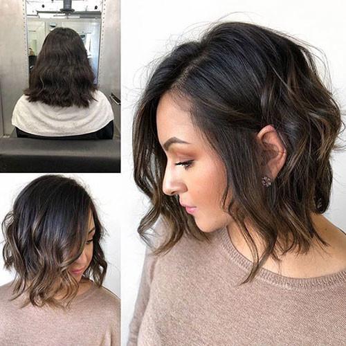 Wavy-Lob-for-Girls Best Wavy Bob Hairstyles You will Like