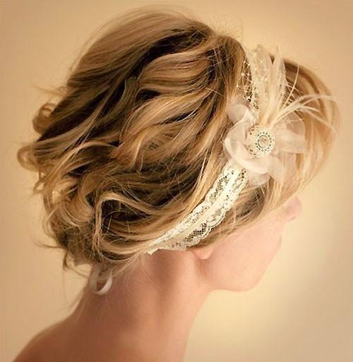 Wedding-hair-bands-for-short-hair Short Wedding Hair Ideas