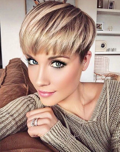 Wedge-Pixie Best Pixie Cuts for Blonde Hair
