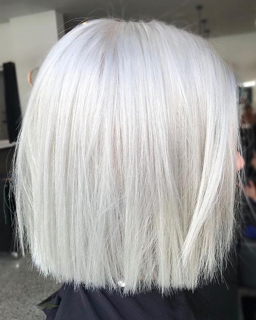 White-Blonde-Short-Hairstyle New Short White Hair Ideas 2019
