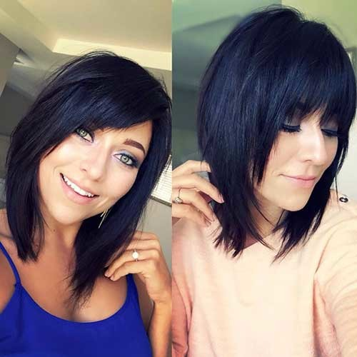 With-Bangs Best Must-Try Brunette Bob Haircuts