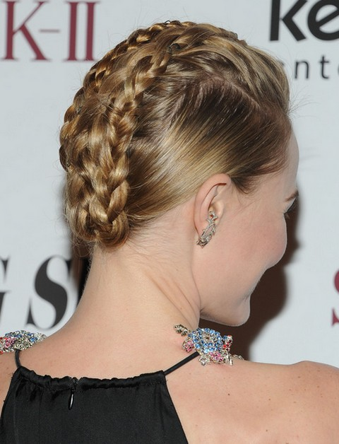 2014-Kate-Bosworth-Hairstyles-Braided-Updos Top 100 Celebrity Hairstyles 2019