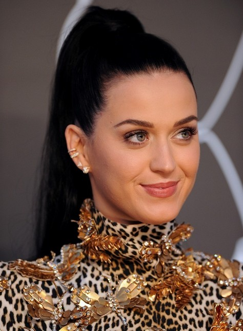 2014-Katy-Perry-Hairstyles-High-Ponytail-for-Long-Hair Top 100 Celebrity Hairstyles 2019