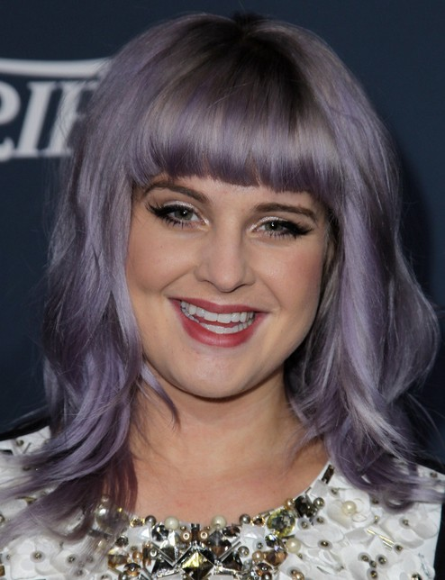 2014-Kelly-Osbourne-Hairstyles-Shoulder-Length-Haircut-with-Blunt-Bangs Top 100 Celebrity Hairstyles 2019