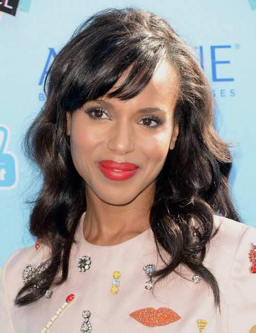 2014-Kerry-Washington-Hairstyles-–-Long-Hair-with-Short-Bangs Top 100 Celebrity Hairstyles 2019