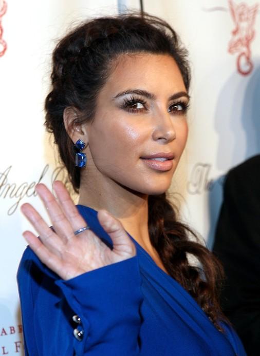 2014-Kim-Kardashian-Hairstyles-–-Braided-Long-Hair Top 100 Celebrity Hairstyles 2019
