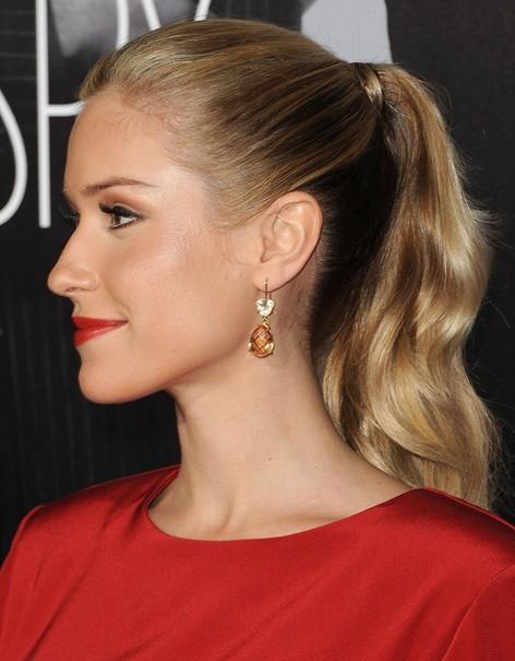 2014-Kristin-Cavallari-Hairstyles-High-Ponytail-Hairstyle Top 100 Celebrity Hairstyles 2019