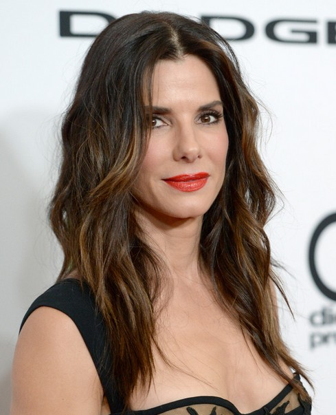 2014-Sandra-Bullock-Hairstyles-Brown-Ombre-Hair Top 100 Celebrity Hairstyles 2019