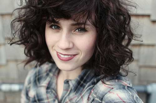 Adorable-Newe-Dark-Curly-Hairstyle Short and Curly Hairstyles 2019