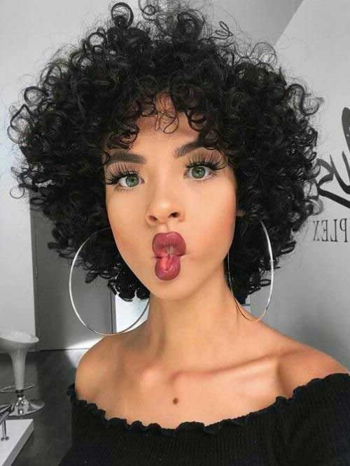 Adorable-Short-Curly-Natural-Hair Latest Short Natural Hairstyles for Black Women