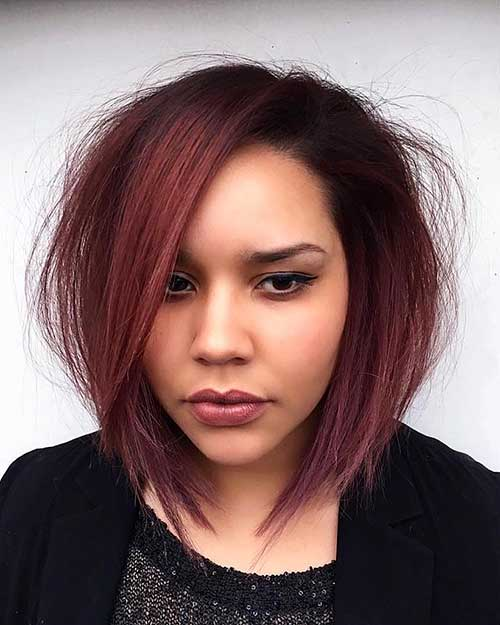 Angled-Bob-Hairstyle Eye-Catching Short Red Hair Ideas to Try