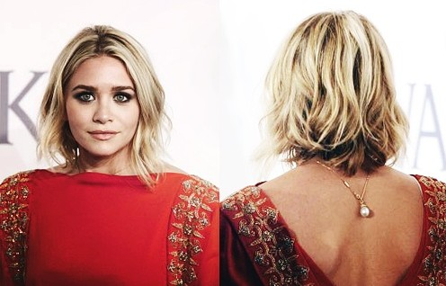 Ashley-Olsen-Short-Layered-Wavy-Bob-Hairstyle-for-Women Popular Short Hairstyles for Women 2019