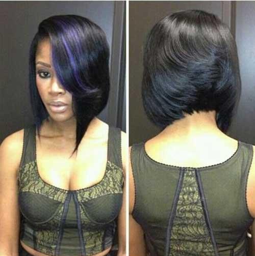 Asymmetrical-Dark-Short-Bob-Cut-for-Black-Women Short Bob Haircuts for Black Women