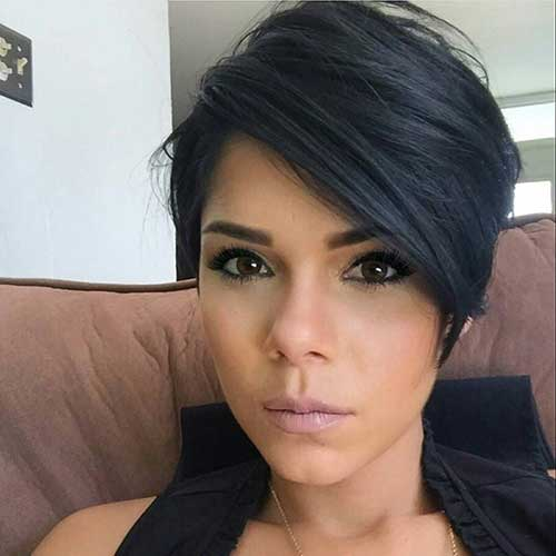 Black-Pixie-Hair Latest Short Haircuts for Women - Short Hairstyle