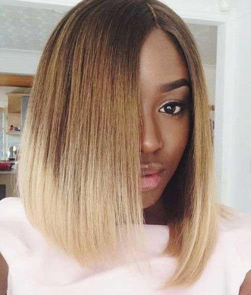 Black-Women-Short-Ombre-Bob Short Bob Haircuts for Black Women