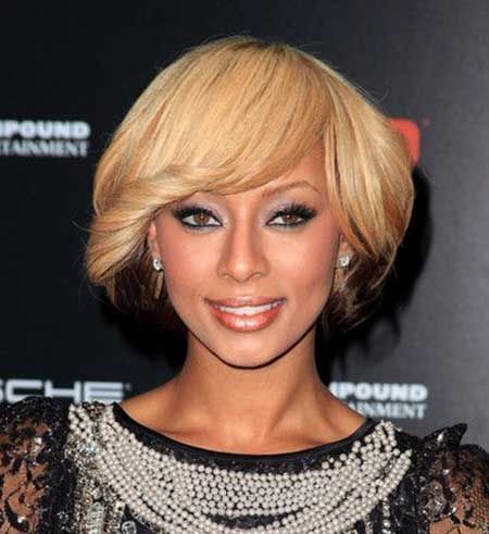 Blonde-Brown-Bob-Combo Short Hairstyles for Black Women