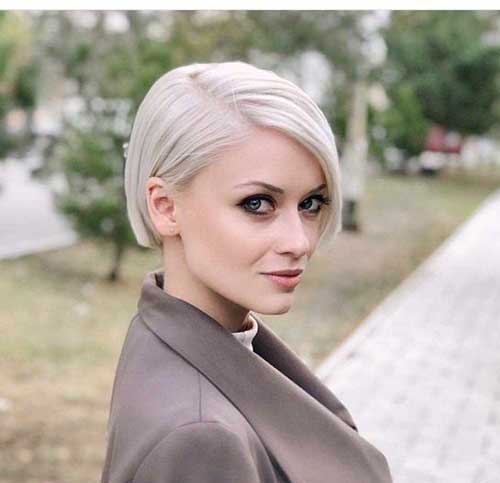 Blonde-Hair Latest Short Bob Haircuts for Women