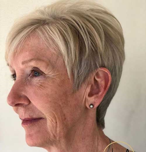 Blonde-Pixie-for-Older-Ladies Short Hairstyles for Older Women with Thin Hair