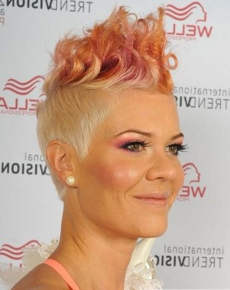 Blonde-Undercut-Sides-with-Pink-Spikes Short Haircuts and Color Ideas