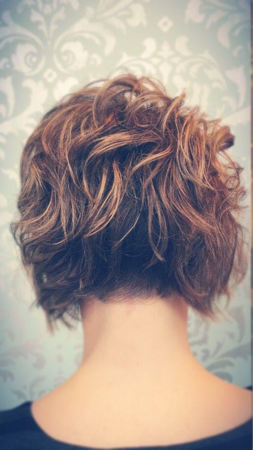 Brown-Curly-Bob-Hair-Back-View Best Short Brown Haircuts 2019