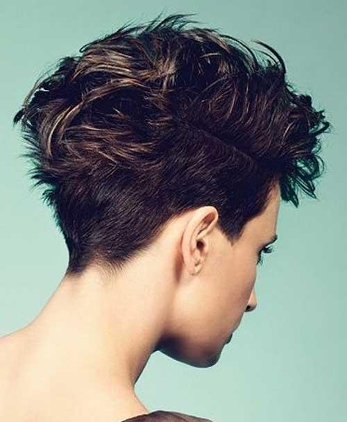 Brown-Short-Haircut-Back-View-Look Best Short Brown Haircuts 2019