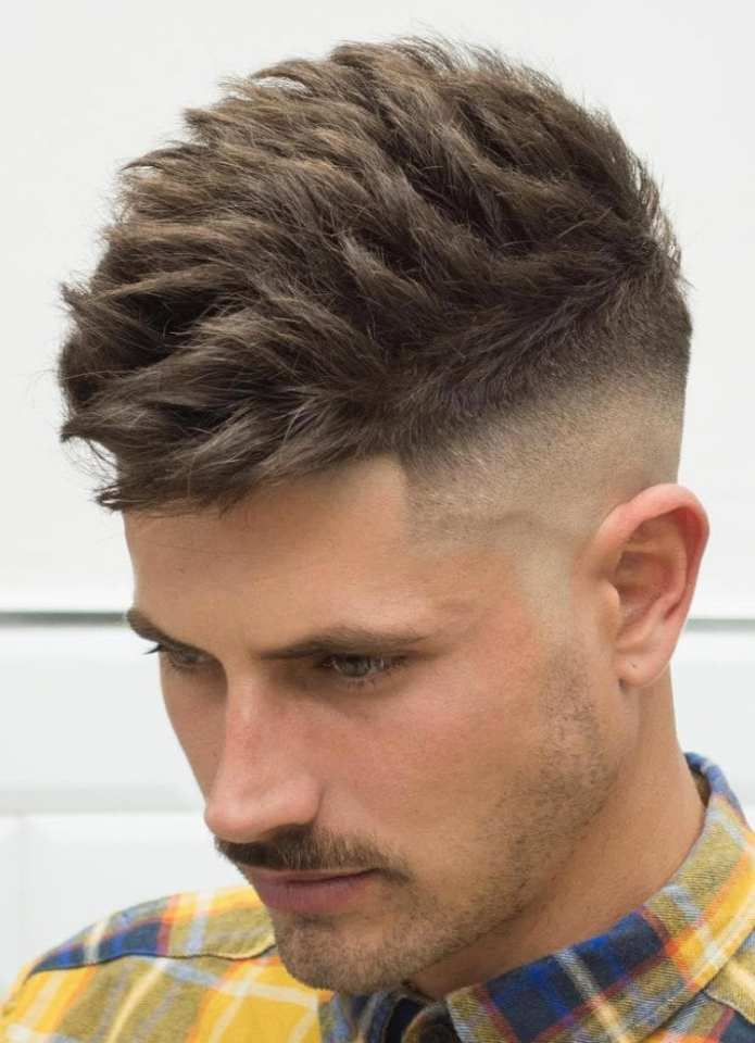 Brushed-Up-Mid-Skin-Fade-Undercut-Textured-Top Stylish Undercut Hairstyle Variations For 2019