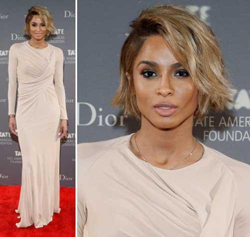 Ciara-Bob-with-Blonde-Color Short Bob Haircuts for Black Women