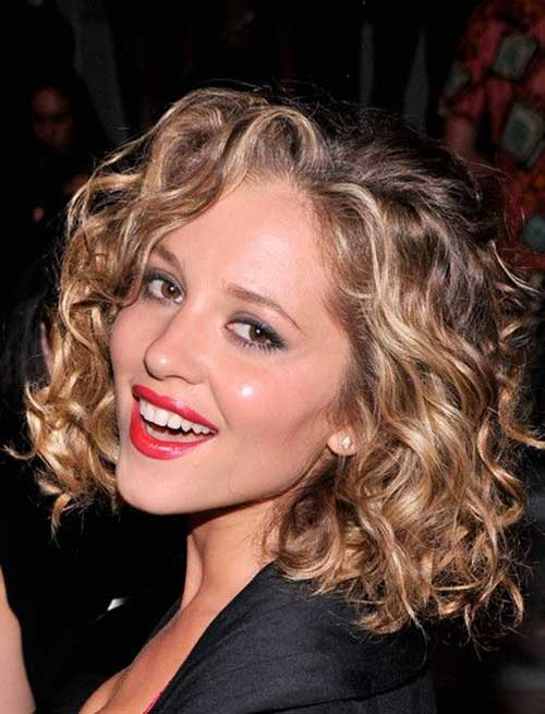 Classy-Fringed-Curly-bob-Hair-Style Very Short Curly Hair 2019