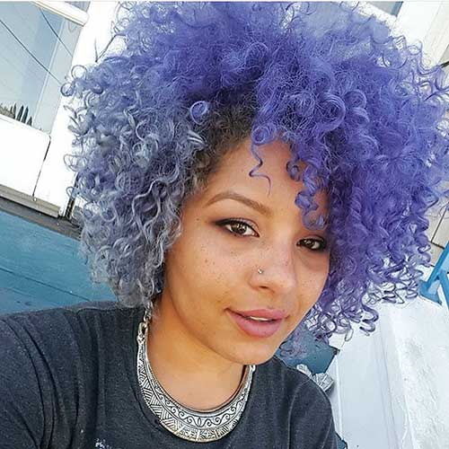 Colored-Curly-Hair Alluring Short Curly Hair Ideas for Summertime