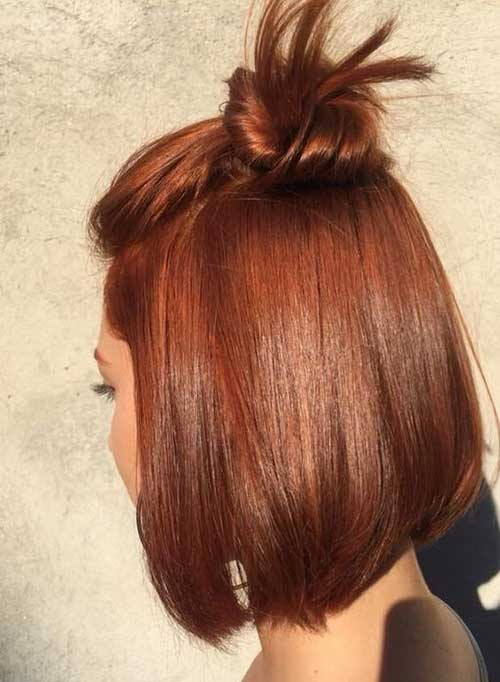 Copper-Hair-Color-Idea Latest Trend Hair Color Ideas for Short Hair