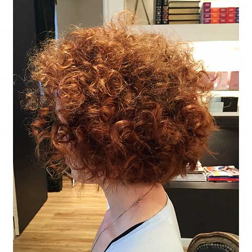 Curly-Copper-Hair Alluring Short Curly Hair Ideas for Summertime