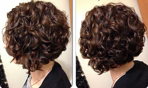 Dark-Brown-Curly-Whirly-Hair Short and Curly Hairstyles 2019