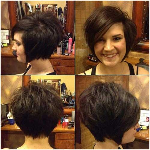 Dark-Brown-Hair Charming Short Brunette Hairstyles