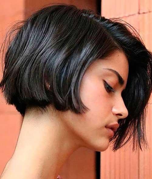 Dark-Brown-Short-Hair Latest Short Bob Haircuts for Women