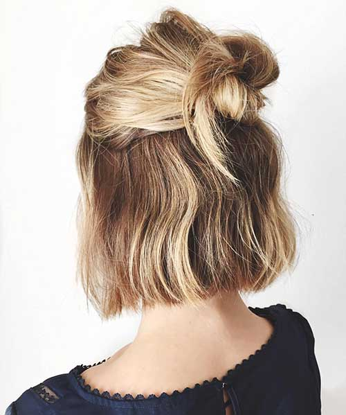 Easy-And-Cute-Hairstyle-For-Short-Hair Cute And Easy Hairstyles For Short Hair