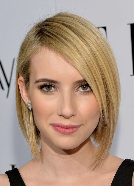 Emma-Roberts'-Fabulous-and-Attractive-Asymmetric-Bob-Hair Best Bob Hairstyles 2019