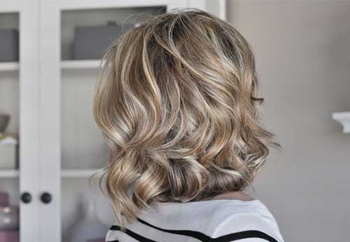 Filled-Casual-Curly-Bob-Hair-Style Very Short Curly Hair 2019