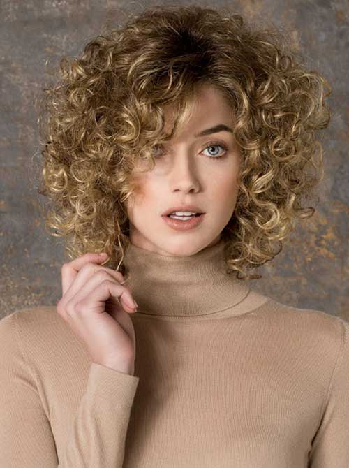 Fine-Natural-Blonde-Curly-Hair Short and Curly Hairstyles 2019