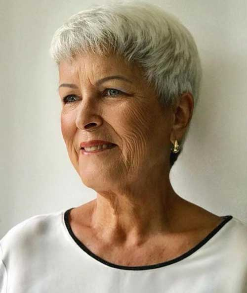 Fine-White-Hair Short Hairstyles for Older Women with Thin Hair