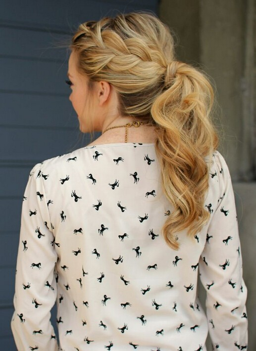 French-Braid-Ponytail-for-Everyday-Hairstyles Cute French Braid Hairstyles for Girls