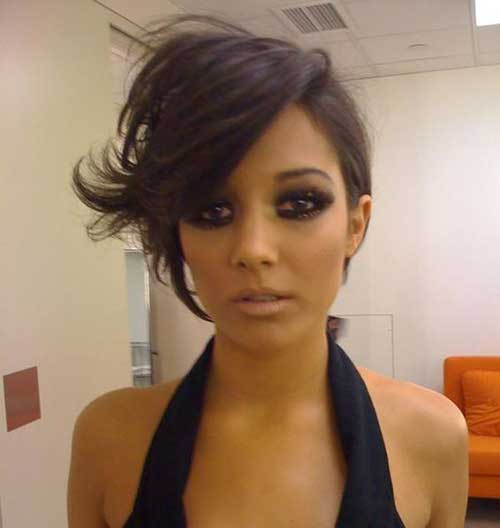 Funky-Long-Pixie Short Haircuts for Round Face Shape