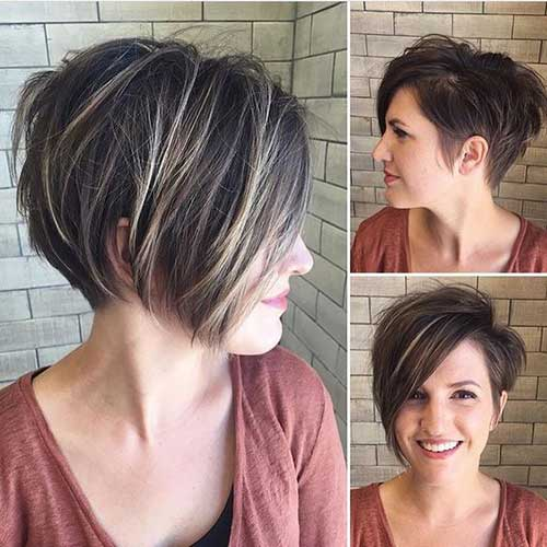 Graduated-Bob-Cut-for-Round-Faces- Short Haircuts for Round Face Shape