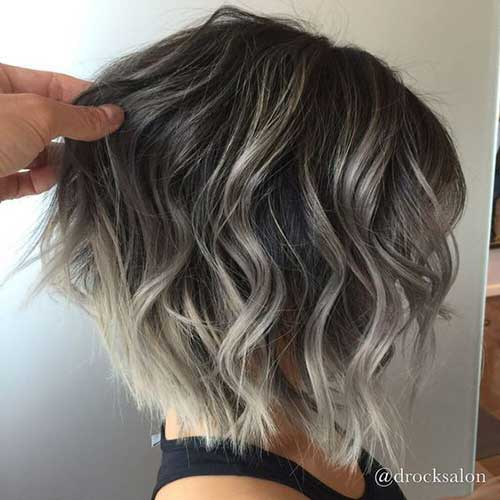 Hair-Color-for-Short-Hair Wavy Short Hair Styles for Chic Ladies
