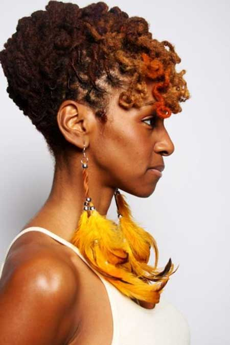 Interesting-Two-Colored-Dreads Nice Short Haircuts for Black Women