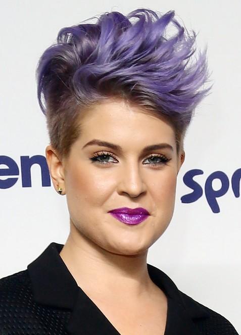 Kelly-Osbourne-Short-Spiky-Mohawk-Hairstyle-for-Women Popular Short Hairstyles for Women 2019